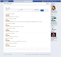 Facebook Jobs Page Design and Development