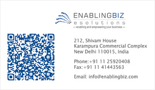 QR Code embaded Business Card Design